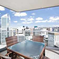 Rental info for STYLISH UNFURNISHED 2 BEDDER IN AURORA TOWER in the Brisbane City area