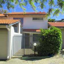 Rental info for 2 x 2 Townhouse! Location Plus - Walk to the River, Ride to the Beach in the Cottesloe area