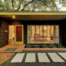 Rental info for Stunning mid-century home designed in 1951 by Louis Southerland of Page in the Austin area