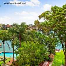 Rental info for Leafy Waterfront Retreat with Light, Space & Views in the Sydney area