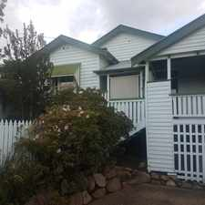 Rental info for CLASSIC CHARACTER HOME IN ELEVATED HILL-TOP POSITION in the Brisbane area