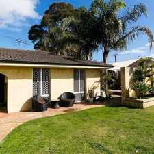 Rental info for FAMILY HOME WITH A SPA! in the East Victoria Park area