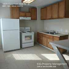 Rental info for 1825 Emerson Ave N in the Minneapolis area