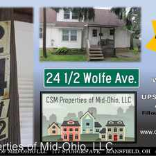 Rental info for 24.5 Wolfe Ave in the Mansfield area