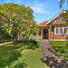 Rental info for Quintessential Mosman Family Home in the Mosman area