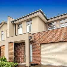 Rental info for LOW MAINTENANCE TOWNHOUSE in the Melbourne area