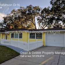 Rental info for 1116 Robinson Dr N in the 33710 area