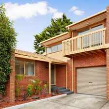 Rental info for SPACIOUS MODERN TOWNHOUSE in the Bentleigh East area