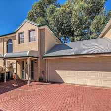 Rental info for VIBRANT TOWNHOUSE IN PRIME LOCATION in the Burswood area