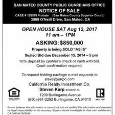 Rental info for INCREDIBLE OPPORTUNITY -Superior Location - Contractors Special / fixer upper , SAN MATEO CA