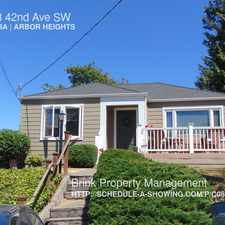 Rental info for 10038 42nd Ave SW in the Fauntleroy area