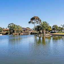 Rental info for LAKEFRONT LIVING in the West Lakes area