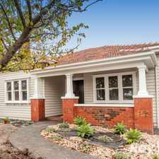 Rental info for GRACEFUL, ELEGANT AND TIMELESS in the Bentleigh East area