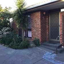 Rental info for COMFORTABLE AND WELL PRESENTED UNIT in the Melbourne area