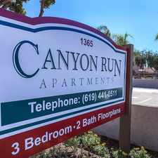 Rental info for Canyon Run in the San Diego area