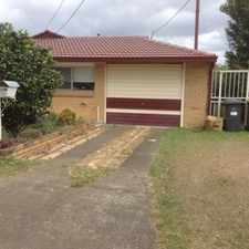 Rental info for NEAT AND TIDY HOME WITHIN WALKING DISTANCE TO EVERYTHING in the Brisbane area