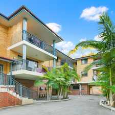 Rental info for RECENTLY REFRESHED 2 BEDROOM UNIT in the Wentworthville area