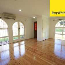 Rental info for UPDATED AND FULL OF CHARACTER in the Sydney area
