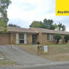Rental info for OPEN HOME: SAT 16 SEP @ 11:45AM 4 BED. 2 BATH. 2 LIVING AREAS. A/C + CEILINGS FANS - GOOD LOCATION NEAR PARKLANDS in the Brisbane area