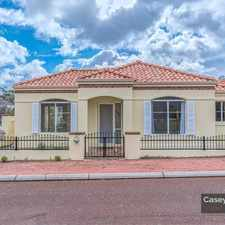 Rental info for Townhouse in Central Joondalup
