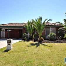 Rental info for Great Family Home! in the Quinns Rocks area