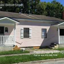Rental info for 806 East Bolton Street in the Savannah area