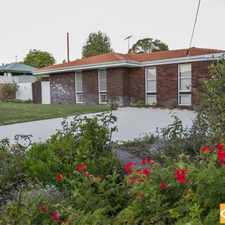 Rental info for IMMACULATE, ECONOMICAL FAMILY HOME! in the Hamersley area