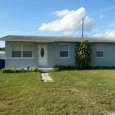 Rental info for This 3/1 single family home is completely renovated with Granite, tile, ceiling fan, central a/c , Alarm system. and hurricane shuttles.