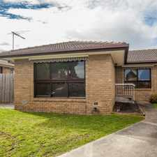 Rental info for Move Straight In And Enjoy A Carefree Nunawading Lifestyle!