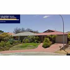 Rental info for Lovely Home with Great Entertaining area! in the Quinns Rocks area
