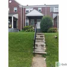 Rental info for Fully updated 4bd 1.5 ba in east Baltimore in the Mount Pleasant Park area