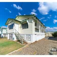 Rental info for 3 Bed + Sunroom + SHED! in the Rockhampton area