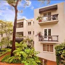 Rental info for CONVENIENT ONE BEDROOM APARTMENT in the Crows Nest area