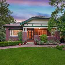 Rental info for Quiet Leafy Area of Pennant Hills