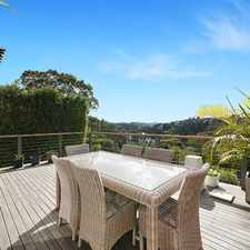 Rental info for Sun Drenched North Facing Family Home in the Mosman area