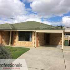 Rental info for QUIET LOCATION OPPOSITE PARK in the Perth area