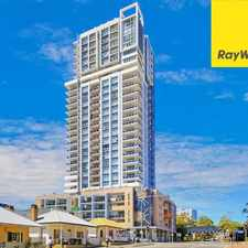 Rental info for EXECUTIVE LIVING IN PARRAMATTA CBD WITH SPECTACULAR CORNER VIEWS in the Sydney area