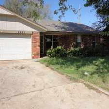 Rental info for Nice home. 4 bed 1 bath with fenced yard in Okc in the Oakcliff area