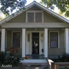 Rental info for 1914 David Street in the Austin area