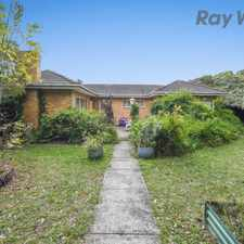 Rental info for FOUR BEDROOM HOME in the Mooroolbark area
