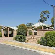 Rental info for Walking distance to Maylands Train Station!