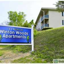 Rental info for Located near I-75, I-275 and Ronald Reagan Highway. Our location offers you easy access to UC, Cincinnati State and NKU. Winton Woods offers spacious one and two bedroom apartment homes. We pay heat and trash too! in the College Hill area