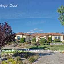Rental info for 1220 Springer Court in the Reno area