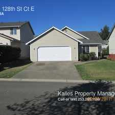Rental info for 11921 128th St Ct E