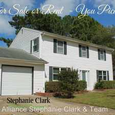 Rental info for 460 Woodlake Road in the Virginia Beach area