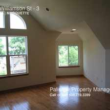 Rental info for 1345 Williamson St in the Madison area