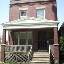 Rental info for Big Strong Brick beauty of home right next to school. huge bedroom closets. new windows , furnace , electrical , plumbing , kitchen and 1/2 bath. beautiful hard wood floors threw out great location off of s chicago ave hurry won't last in the Grand Crossing area