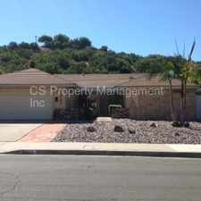 Rental info for CANYON VIEW PROPERTY NEAR MISSION TRAILS in the Allied Gardens area