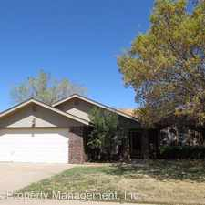 Rental info for 5520 94th Street in the Lubbock area
