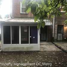 Rental info for 4626 B St. SE in the Fort Dupont area